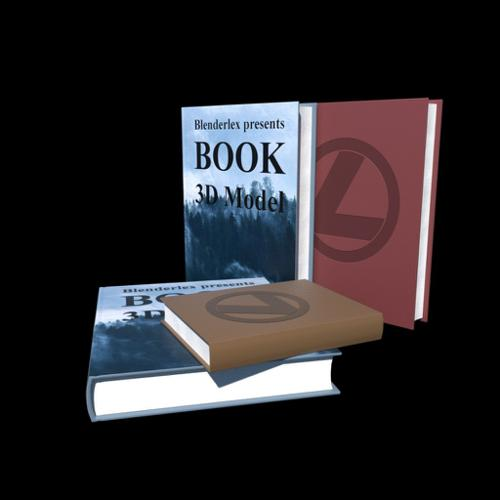Realistic book with pages preview image