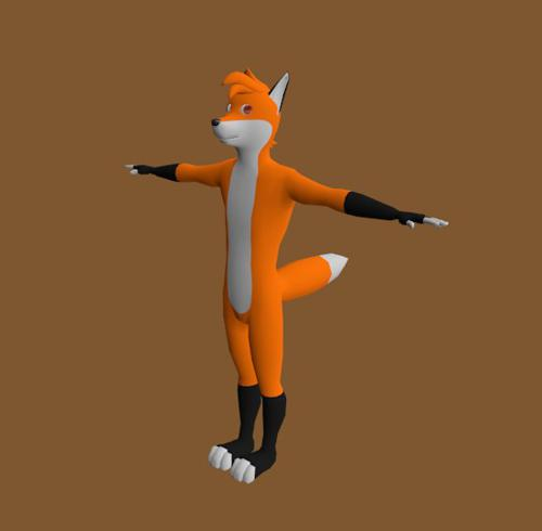 Fox Character with rig preview image