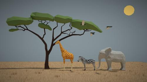 savane low poly preview image