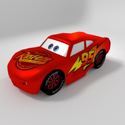Low Poly Lightning McQueen preview image