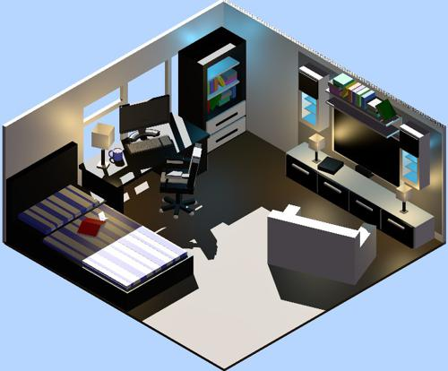My First Isometric Bedroom preview image