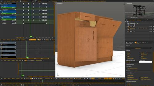 Chest of drawers - b4w - object animation preview image