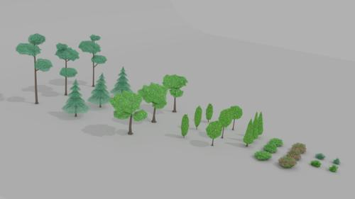 Simple trees and bushes pack preview image