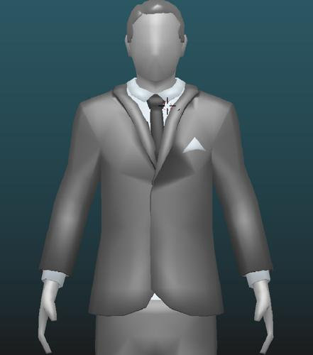 Low-poly suit and tie male character preview image