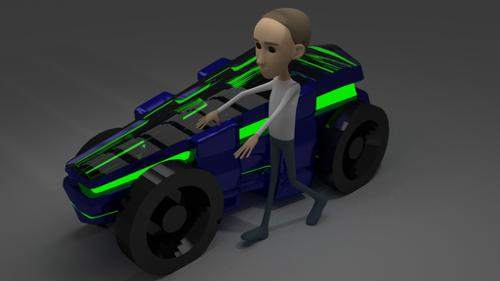 character with car preview image