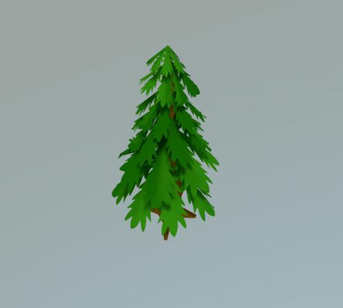 Low-Poly Toon Tree preview image