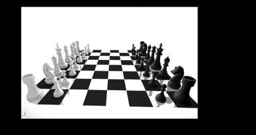 Cycles chessboard + complete chess set preview image