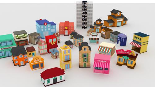 Cute buildings. preview image