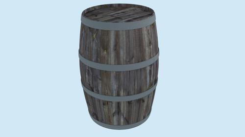 Barrel (Low Poly, PBR texturing) preview image