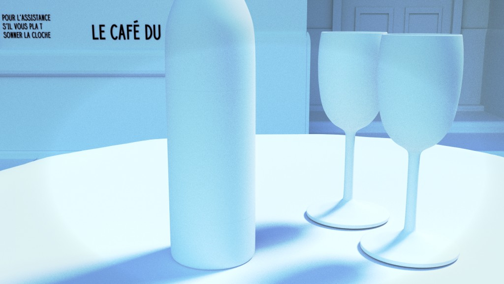 Parisian Cafe Scene preview image 1