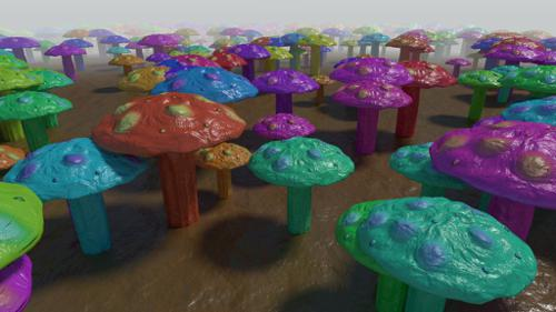 Coloured Mushrooms preview image
