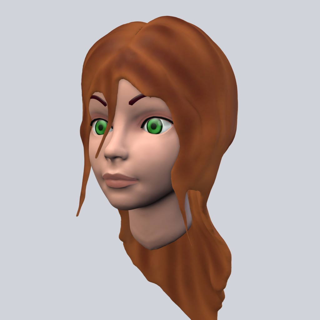 Cartoon Girl head preview image 3
