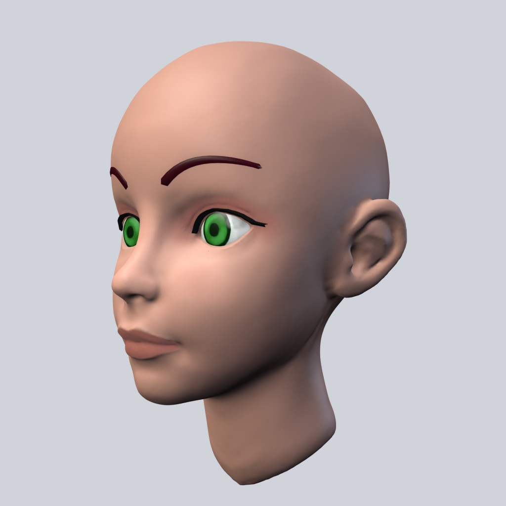Cartoon Girl head preview image 1