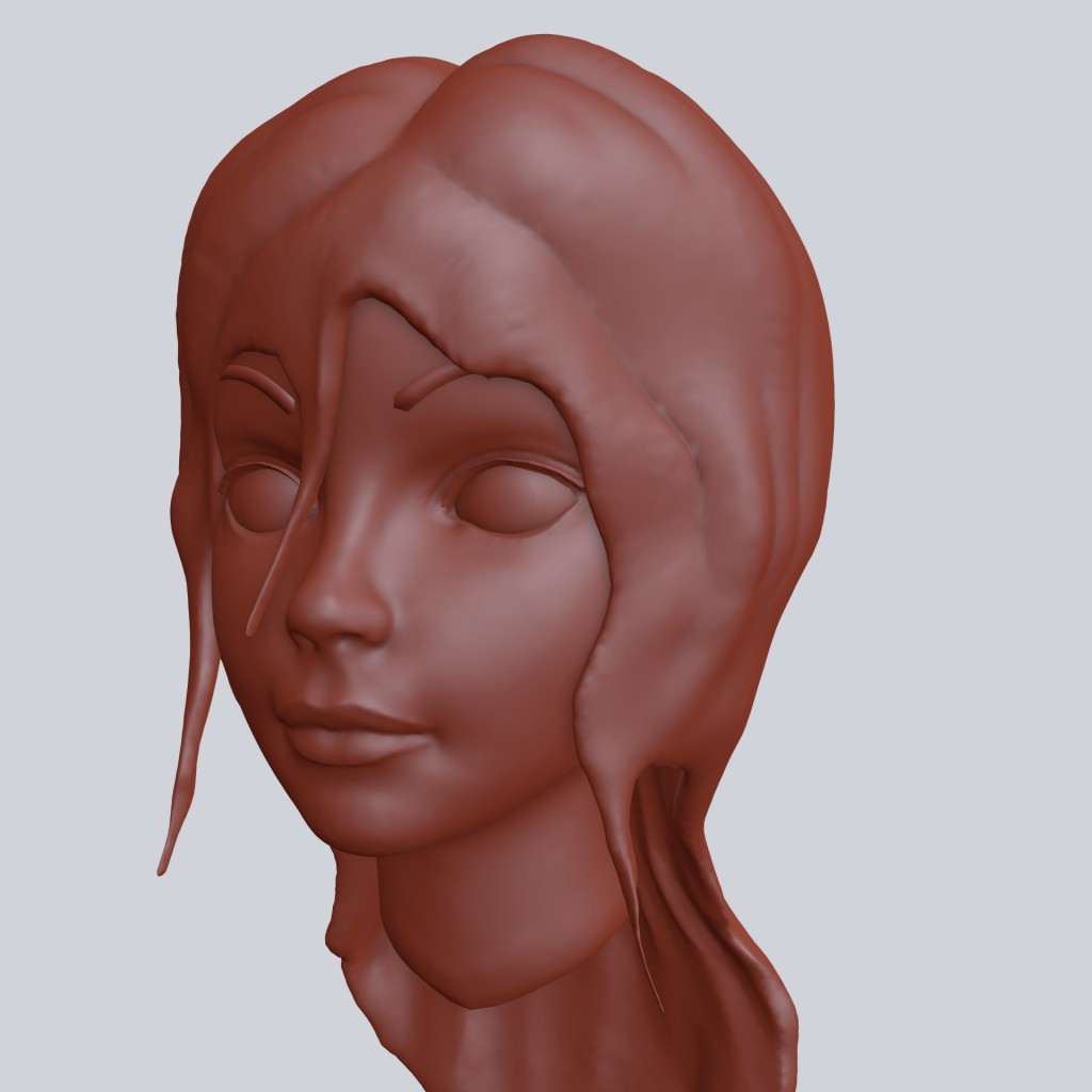 Cartoon Girl head preview image 2