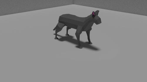 low-poly cat preview image