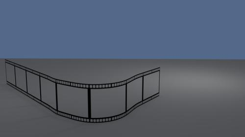 Film strip on a path for animation preview image