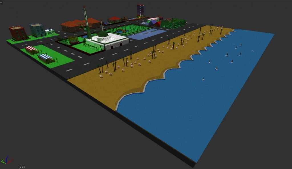 lowpoly city  preview image 1