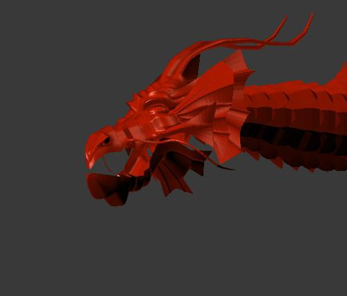 Red Chinese Dragon preview image