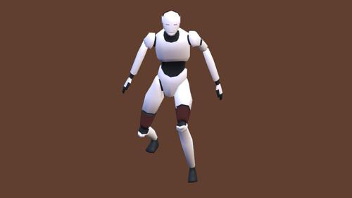 LOW POLY ROBOT FULL RIGGED preview image