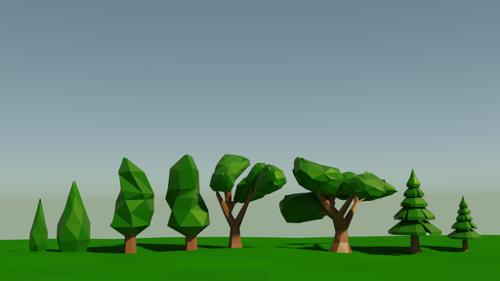 Low poly trees preview image
