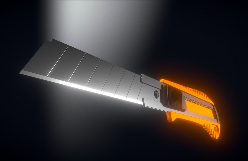 Box Cutter High-Poly Version preview image 1