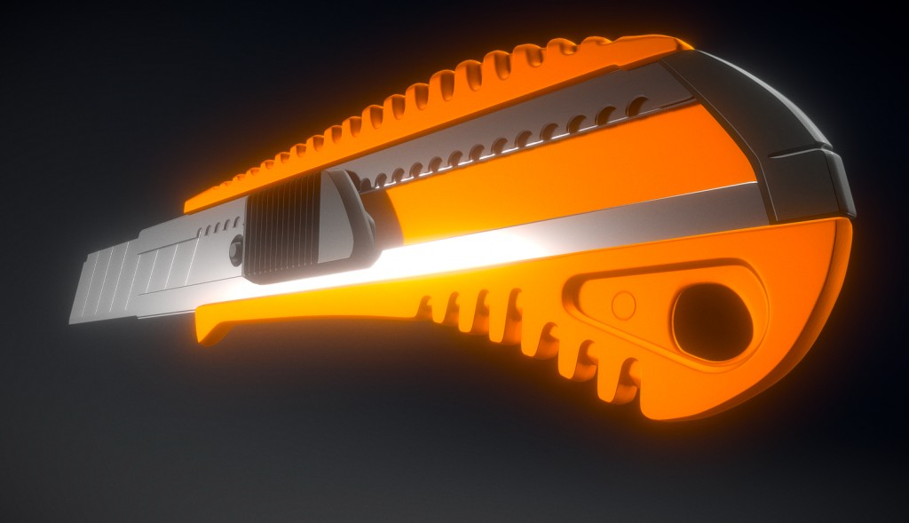 Box Cutter High-Poly Version preview image 2