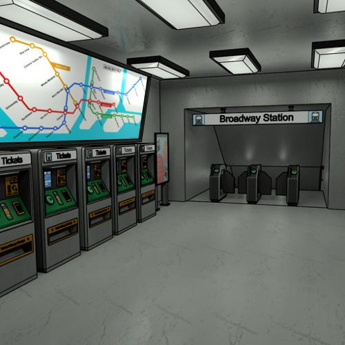 Subway Station Entrance preview image