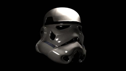 Stormtrooper Helmet Textured preview image