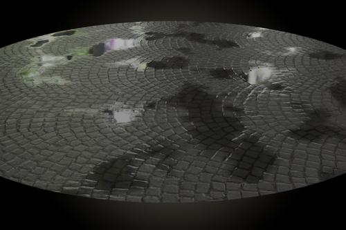 Procedural Puddles Material preview image