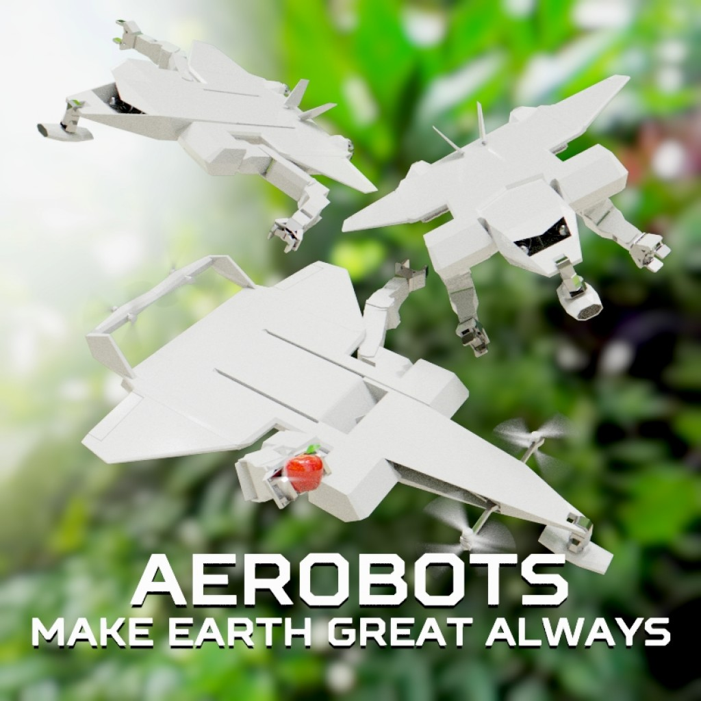 AEROBOTS MAKE EARTH GREAT ALWAYS preview image 1