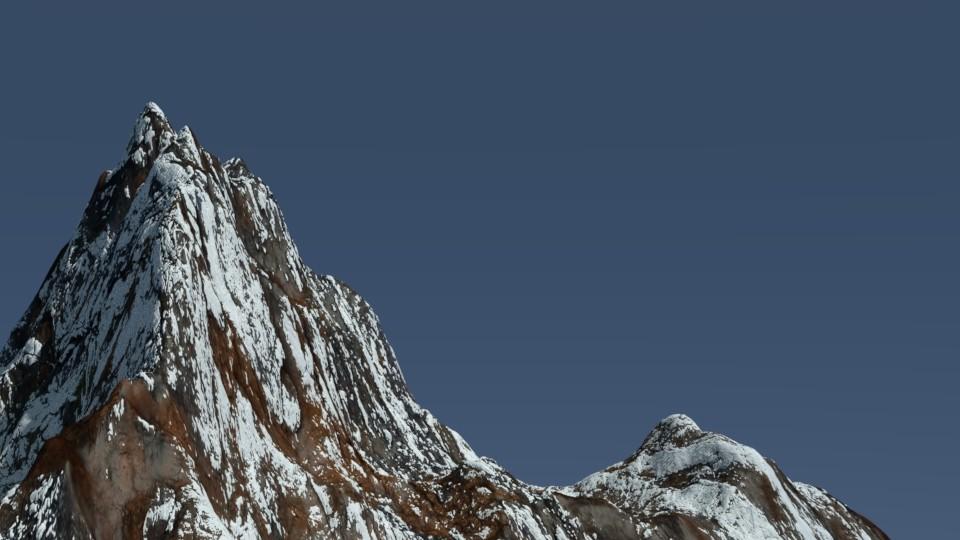 Snowy Mountain Scene  preview image 1