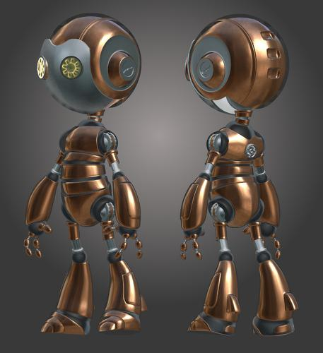 Atom Robot V.2.0 Copper & Aluminium preview image