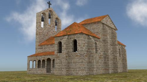 Rural medieval romanesque church preview image