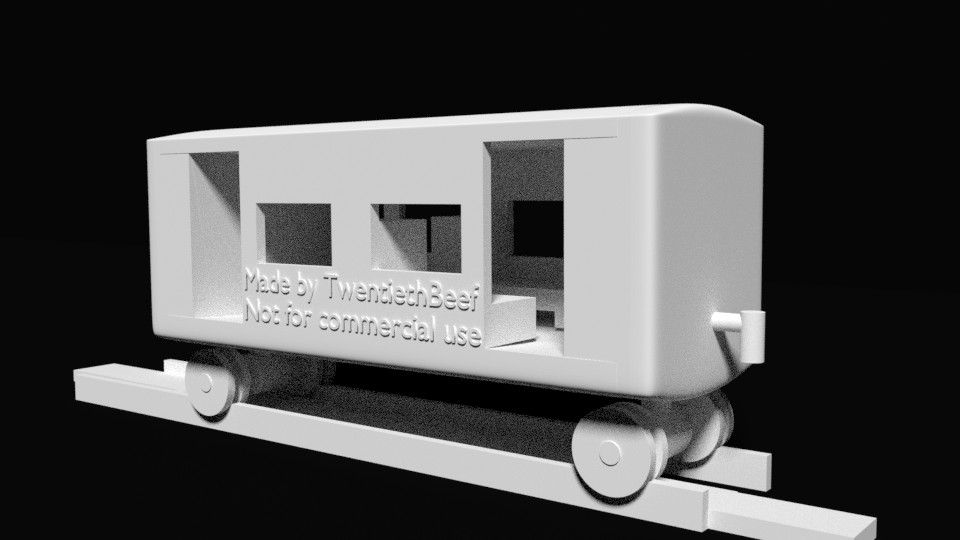 3D printable BR-01 small passenger coach set preview image 1