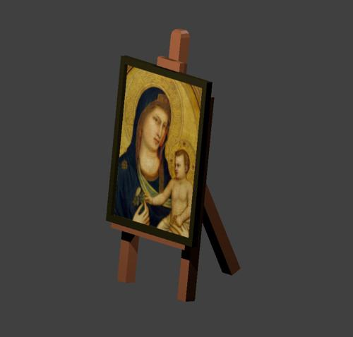 Low Poly Cartoony Mobile Friendly Canvas Easel for Painting preview image