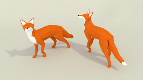 Low Poly Fox preview image