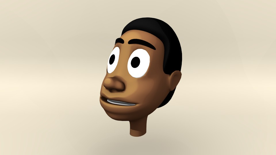 African Cartoon Head preview image 1