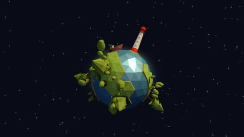 Low Poly Planet Animation preview image