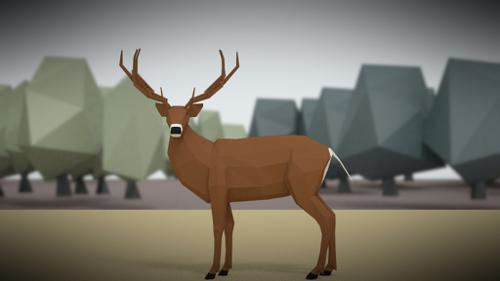 deer low poly preview image