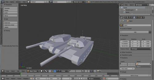 2 tanques lowpoly preview image