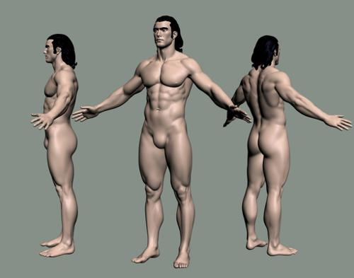 Mike_Freeman human basemesh preview image