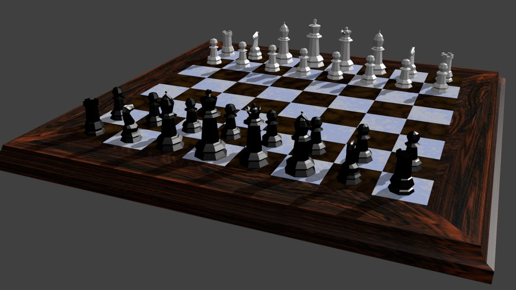 LOW POLY CHESS WITH PIECES preview image 1