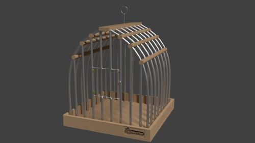 Modern bird cage preview image