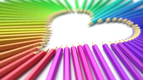 color pencil heart preview image