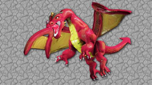 LittleGuyCgi Dragon model and rig preview image
