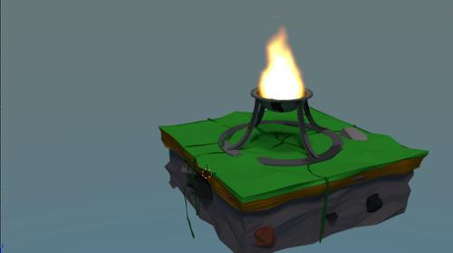 Low Poly Fire Island preview image