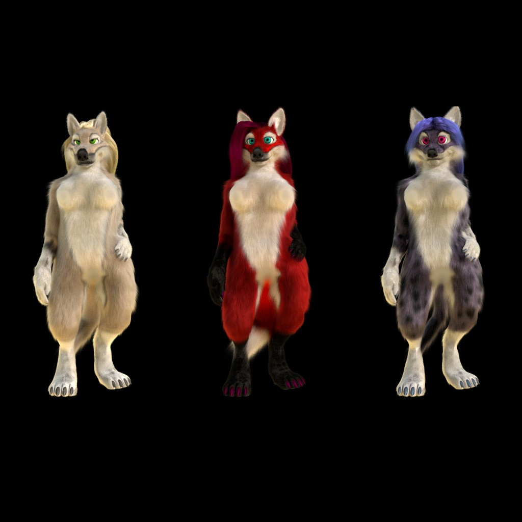 Anthro wolf, fox, cat preview image 1