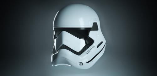 High-Poly Stormtrooper First Order Helmet preview image