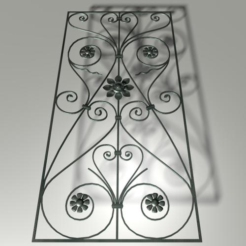 wrought iron door decoration preview image