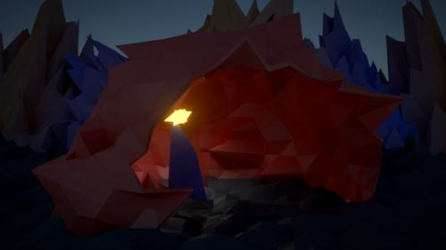 Low Poly Cave preview image